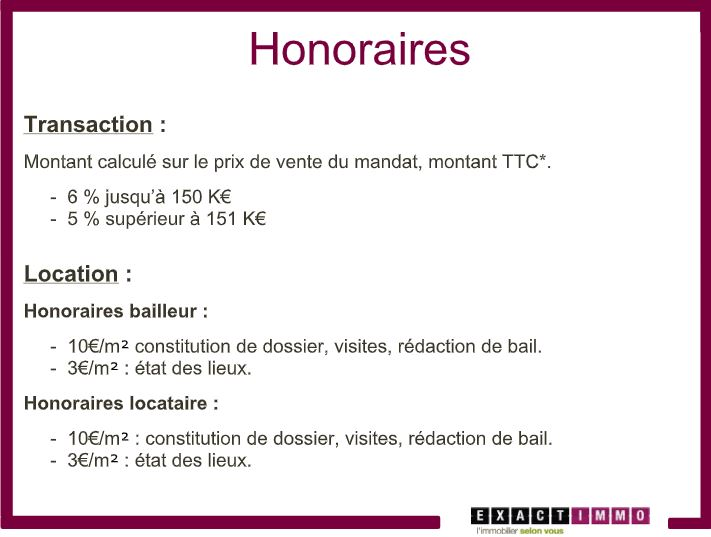 Expert immobilier La Madeleine : honoraires